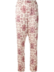 Baja East Ikat Print Trousers White