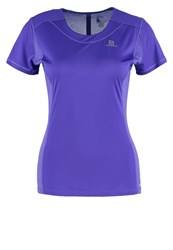Salomon Sports Shirt Phlox Violet Purple