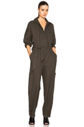 Helmut Lang Patch Pocket Jumpsuit In Green
