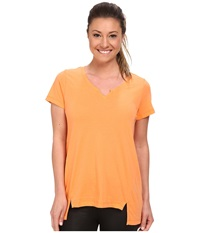 Lole Coral Top Melon Women's Short Sleeve Pullover Orange
