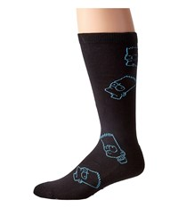 Neff Barts World Socks Black Crew Cut Socks Shoes