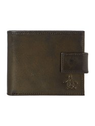 Original Penguin Leather Bifold With Tab Wallet Black