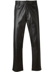 Ann Demeulemeester Icon Leather Trousers Black