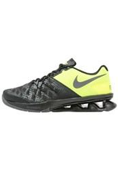 Nike Performance Reax Lightspeed Ii Sports Shoes Black Dark Grey Volt Metallic Silver