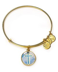Alex And Ani Art Infusion Cross Expandable Wire Bangle Gold