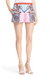 Women's Clover Canyon Patchwork Paisley Shorts