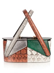 F.E.V. Beauty Case Snakeskin Clutch Multi