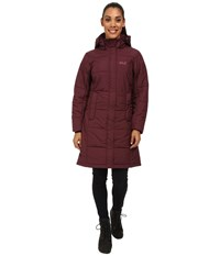 Jack Wolfskin Iceguard Coat Dark Berry Women's Coat Brown