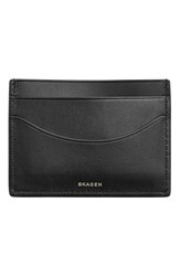 Skagen Men's 'Torben' Leather Card Case Black