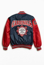 Urban Outfitters Vintage Cardinals Satin Club Jacket Navy
