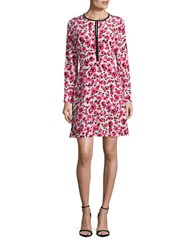 Kate Spade Floral Silk A Line Dress Red