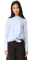 Helmut Lang Oxford Tuxedo Shirt Medium Blue