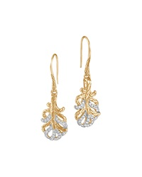 Classic Chain Small 18K Diamond Feather Earrings John Hardy
