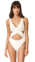 Solid And Striped The Poppy Wrap One Piece Cream