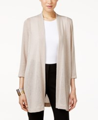 Alfani Knit Open Front Cardigan Only At Macy's French Stone