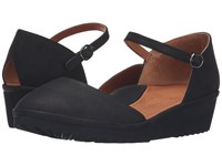 Gentle Souls Nora Black Nubuck Women's Dress Flat Shoes