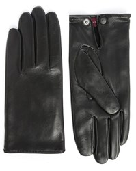 Agnelle Dimitri Smooth Leather Gloves With Wool Lining