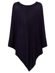 John Lewis Knitted Cotton Poncho Navy