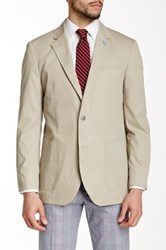 Tailorbyrd Taupe Two Button Notch Lapel Jacket Beige