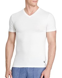 Polo Ralph Lauren Stretch Comfort V Neck Tee Pack Of 2 White