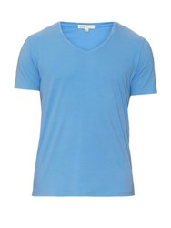 Onia Joey V Neck T Shirt Blue