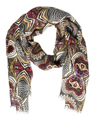 Etro Paisley Printed Linen Scarf