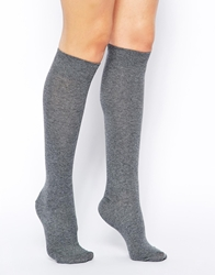 Asos Knee High Socks Grey