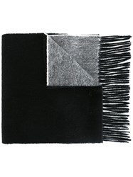 Paul Smith Ps By Bicolour Scarf Black