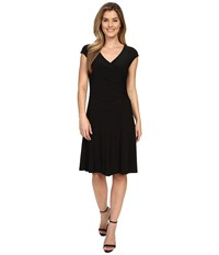 Nic Zoe Wrap Dress Black Onyx Women's Dress
