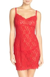 Women's Hanky Panky Fitted Lace Chemise Red