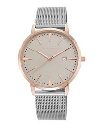 Vince Camuto Stainless Steel Mesh Bracelet Watch Silver