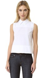 Victoria Beckham Tie Back Sleeveless Shirt Optic White
