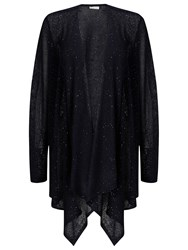 Jacques Vert Sequin Waterfall Cardigan Navy