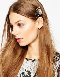 Asos Limited Edition Flower Vine Hair Comb Gunmetal