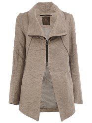 Lost And Found Ria Dunn Zip Up Coat Grey