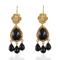 Emma Chapman Jewels Opium Black Spinel Chandelier Earrings