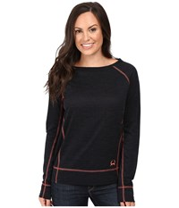Cinch Long Sleeve Burnout French Terry Raglan Black Women's Clothing