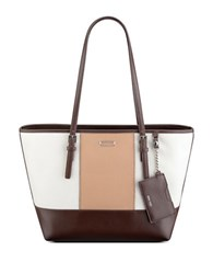 Nine West Ava Tote White Chocolate