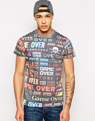 Fly 53 T Shirt With Game Over Print Black