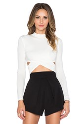 De Lacy Jules Crop Top White