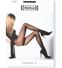 Wolford Individual 10 Nylon Blend Tights Nearly Black