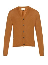 Gucci V Neck Cashmere Knit Cardigan