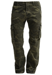 Alpha Industries Cargo Trousers Olive Camo Khaki