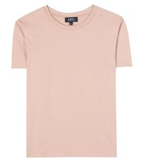 A.P.C. Cycle Cotton Melange T Shirt Beige