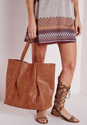 Missguided Slouchy Shopper Brown