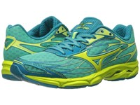 Mizuno Wave Catalyst Electric Green Safety Yellow Silver Women's Running Shoes Blue