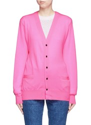 Toga Archives Crossbody Sash Wool Cardigan Pink