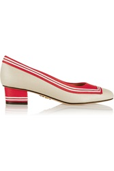 Charlotte Olympia Skipper Coated Canvas Pumps White