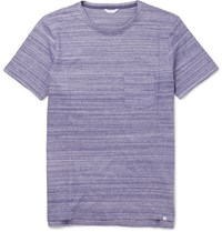 Orlebar Brown Slim Fit Sammy Ii Striped Cotton Jersey T Shirt Purple