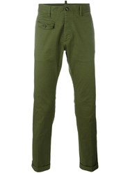 Dsquared2 Skinny Fit Military Trousers Green